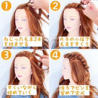 ロング 夏 色気 ヘアアレンジ ヘアスタイルや髪型の写真・画像