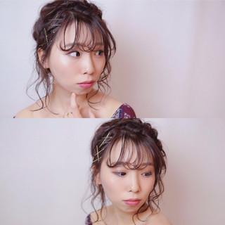 ミディアム ヘアアクセ 冬 ヘアアレンジ ヘアスタイルや髪型の写真・画像 ヘアスタイルや髪型の写真・画像