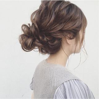 ガーリー ヘアアレンジ 結婚式 セミロング ヘアスタイルや髪型の写真・画像 ヘアスタイルや髪型の写真・画像