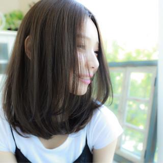 ストリート 暗髪 ゆるふわ ミディアム ヘアスタイルや髪型の写真・画像