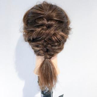 セミロング アウトドア 女子会 簡単ヘアアレンジ ヘアスタイルや髪型の写真・画像