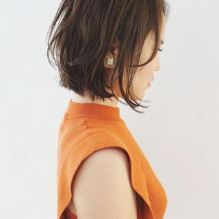 ボブ 外ハネボブ パーマ ミニボブ ヘアスタイルや髪型の写真・画像
