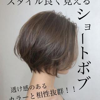 デート ショートボブ ミニボブ ナチュラル ヘアスタイルや髪型の写真・画像
