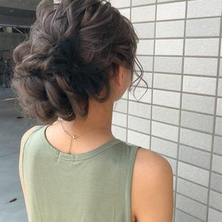 和装 ロング ヘアアレンジ フェミニン ヘアスタイルや髪型の写真・画像