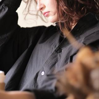 パーマ ボブ オフィス 外国人風カラー ヘアスタイルや髪型の写真・画像