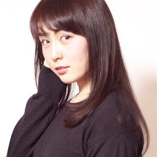 ストレート コンサバ 艶髪 ロング ヘアスタイルや髪型の写真・画像