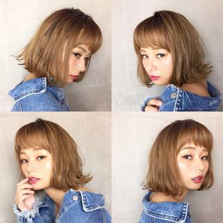 グラデーションカラー 抜け感 大人かわいい デート ヘアスタイルや髪型の写真・画像