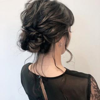 簡単ヘアアレンジ エレガント セミロング ヘアアレンジ ヘアスタイルや髪型の写真・画像 ヘアスタイルや髪型の写真・画像