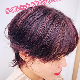 ピンク ベリーピンク 外国人風カラー 大人ハイライト ヘアスタイルや髪型の写真・画像