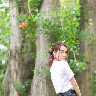 簡単ヘアアレンジ アンニュイほつれヘア ミディアム ヘアアレンジ ヘアスタイルや髪型の写真・画像