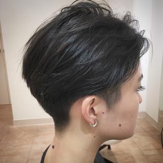 ショート 刈り上げ モード 大人ショート ヘアスタイルや髪型の写真・画像