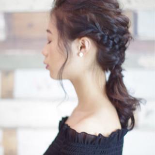 謝恩会 簡単ヘアアレンジ フェミニン ヘアアレンジ ヘアスタイルや髪型の写真・画像