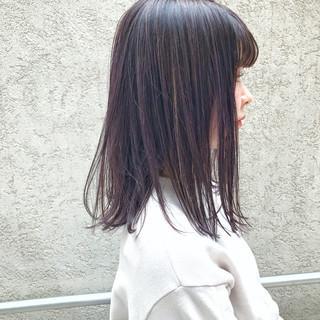 ロブ モード ハイライト ボブ ヘアスタイルや髪型の写真・画像
