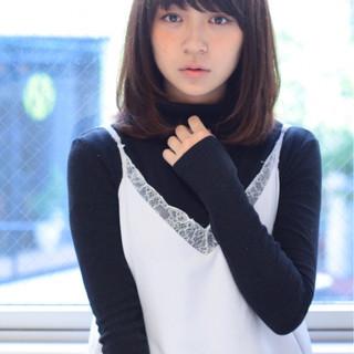 ピュア 大人かわいい ミディアム 秋 ヘアスタイルや髪型の写真・画像
