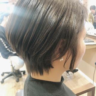 ナチュラル ショートヘア ショートボブ 艶髪 ヘアスタイルや髪型の写真・画像