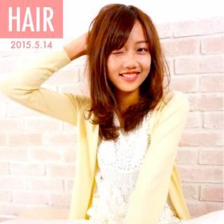 ミディアム モテ髪 春 コンサバ ヘアスタイルや髪型の写真・画像