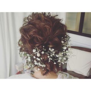 成人式 ヘアアレンジ ミディアム ガーリー ヘアスタイルや髪型の写真・画像