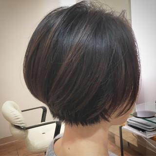 モテボブ ナチュラル ボブヘアー ショートボブ ヘアスタイルや髪型の写真・画像