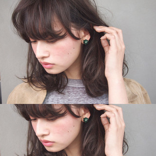 アッシュ ナチュラル 暗髪 ブラウン ヘアスタイルや髪型の写真・画像