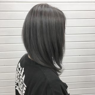 ストリート セミロング ブルーラベンダー ブルーアッシュ ヘアスタイルや髪型の写真・画像 ヘアスタイルや髪型の写真・画像