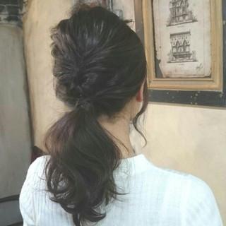 ショート 大人かわいい ヘアアレンジ 波ウェーブ ヘアスタイルや髪型の写真・画像 ヘアスタイルや髪型の写真・画像
