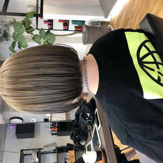 切りっぱなしボブ ボブ アンニュイほつれヘア 銀座美容室 ヘアスタイルや髪型の写真・画像 | 本田 重人 / GRAFF hair