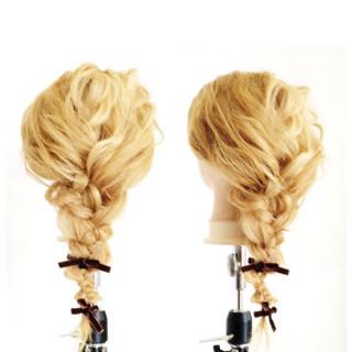 くせ毛風 簡単ヘアアレンジ 外国人風 ヘアアレンジ ヘアスタイルや髪型の写真・画像