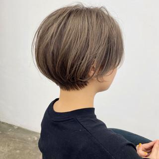 大人かわいい ナチュラル ショートヘア ショートボブ ヘアスタイルや髪型の写真・画像