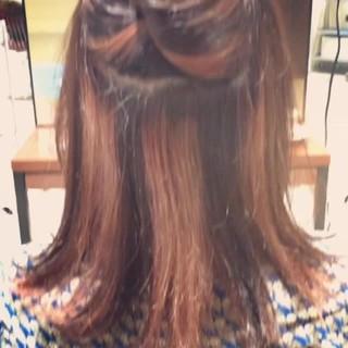 ストリート ワンレングス ハイライト ロブ ヘアスタイルや髪型の写真・画像