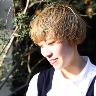 ヘアアレンジ デート ショート モード ヘアスタイルや髪型の写真・画像