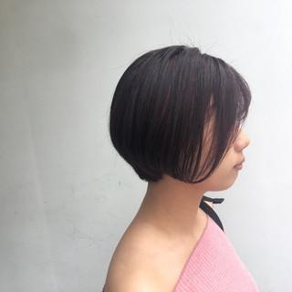 ショート 色気 ナチュラル ブリーチ ヘアスタイルや髪型の写真・画像