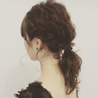 ゆるふわ 波ウェーブ ミディアム ショート ヘアスタイルや髪型の写真・画像 ヘアスタイルや髪型の写真・画像