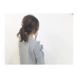 簡単ヘアアレンジ 大人かわいい ゆるふわ セミロング ヘアスタイルや髪型の写真・画像