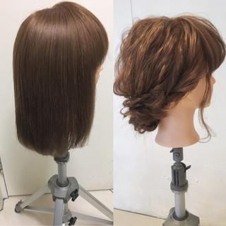 ゆるふわ ヘアアレンジ 大人かわいい セミロング ヘアスタイルや髪型の写真・画像