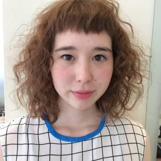 ストリート ミディアム 外国人風 大人かわいい ヘアスタイルや髪型の写真・画像