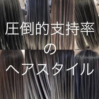 デート バレイヤージュ 外国人風 外国人風カラー ヘアスタイルや髪型の写真・画像