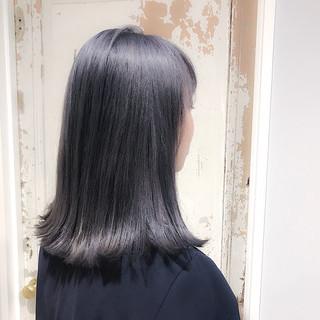 外国人風 ミディアム ハイライト 艶髪 ヘアスタイルや髪型の写真・画像