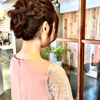 結婚式ヘアアレンジ ヘアセット ロング スッキリ ヘアスタイルや髪型の写真・画像