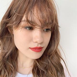 ナチュラル 透明感カラー ロング 外国人風カラー ヘアスタイルや髪型の写真・画像