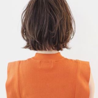 ボブ ミニボブ ナチュラル ぱっつん ヘアスタイルや髪型の写真・画像