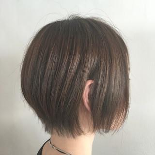 ボブ アッシュ 外国人風 ハイライト ヘアスタイルや髪型の写真・画像