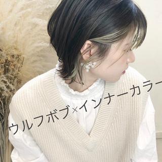 外国人風カラー ショートボブ アンニュイほつれヘア ナチュラル ヘアスタイルや髪型の写真・画像