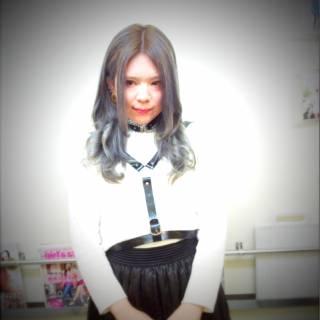 グラデーションカラー ピンク 黒髪 アッシュ ヘアスタイルや髪型の写真・画像