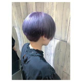 アンニュイほつれヘア グレージュ ラベンダーアッシュ ショート ヘアスタイルや髪型の写真・画像