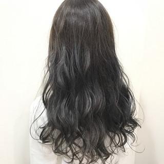 黒髪 暗髪 ロング エレガント ヘアスタイルや髪型の写真・画像 ヘアスタイルや髪型の写真・画像