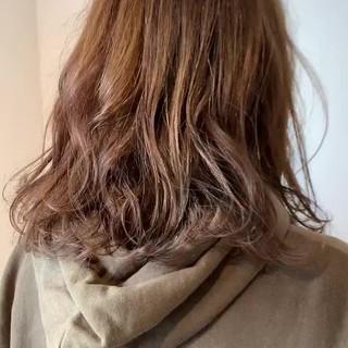 3Dハイライト フェミニン ミディアム 大人可愛い ヘアスタイルや髪型の写真・画像