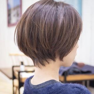大人かわいい ショートボブ ハンサムショート ショートヘア ヘアスタイルや髪型の写真・画像