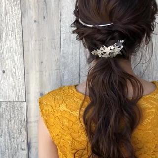 アッシュグレージュ ヘアアレンジ 結婚式 モード ヘアスタイルや髪型の写真・画像