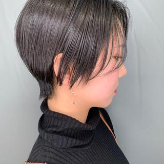 簡単スタイリング ショート ベリーショート ナチュラル ヘアスタイルや髪型の写真・画像