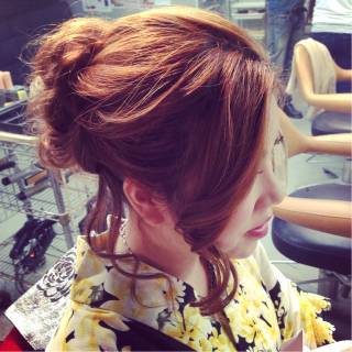 アップスタイル ヘアアレンジ ロング 夏 ヘアスタイルや髪型の写真・画像